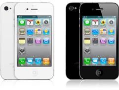ホワイトとブラックのiPhone4